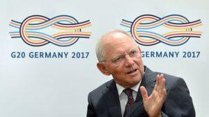 Bundesfinanzminister Wolfgang Schäuble propagiert den Compact with Africa und lässt dabei das Pariser Klimaschutzabkommen links liegen. Photo: © Bundesfinanzministerium